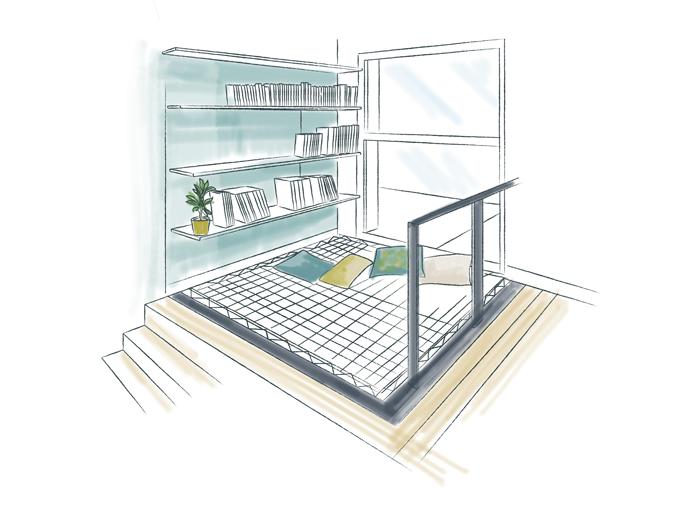 Exemple de filet d'habitation dans maison design