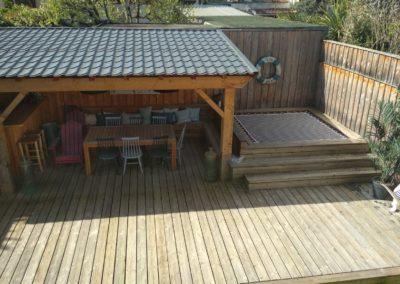 Terrasse avec filet SunBed