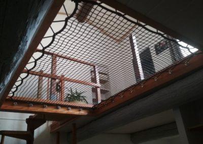 Filet d'habitation dans une trémie au dessus d'un salon